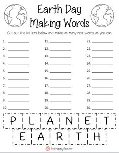 Making Words FREEBIE for Earth Day!