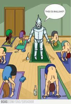 Robot and Yoga meme