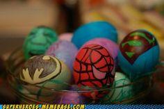 super hero colored easter eggs ideas | Super Hero Easter Eggs