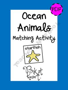 Ocean animals -- Preschool Unit matching