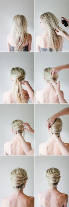 Messy French Twist---bridesmaids hair!