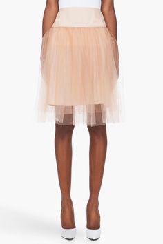 nude silk underskirt // mcq alexander mcqueen