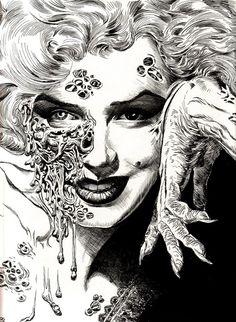 marilyn monroe zombie tattoo