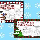 This Bundle includes both my 2 Digit and 3 Digit Place Value review packets in a zip file.   The 2 Digit and 3 Digit files include lots of practice...