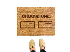 Show Your Humor With This Geeky Welcome Mat via Brit + Co.
