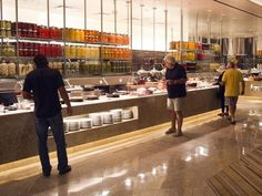 Guests look over the vast array of food items at the new Bacchanal Buffet at Caesars Palace. It's USA TODAY's No. 1 buffet.