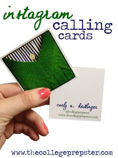 College Prep: Instagram Business Cards