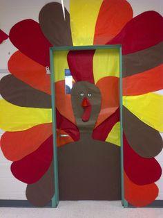 Fall classroom door! Love it! the doors, idea, classroom door, bulletin boards, fall classroom, display, turkey, teacher, eyes