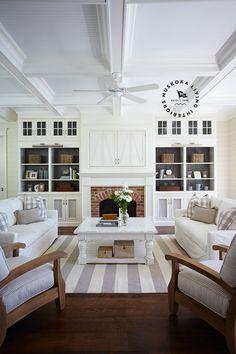 Neutral Living Room - Den - Family Room : Medium Dark Wood Floors, Gray and Off -White :: Muskoka Living |ML - Bellamere - 2