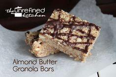 Almond Butter Granola Bars (Grain-free) | The Unrefined Kitchen | Paleo & Primal Recipes