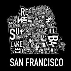 Areas that make-up San Francisco