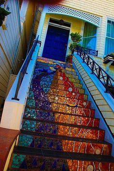 Fun colorful stairs