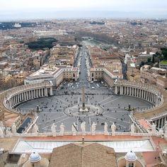 Praça de S. Pedro, Vaticano.