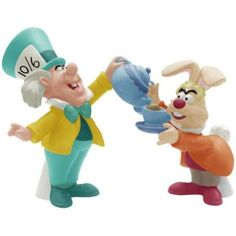 Mad Hatter and March Hare Magnetized Salt & Pepper Shakers