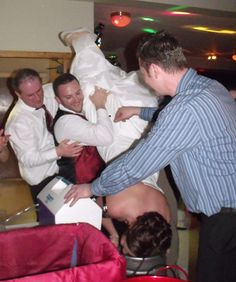 what NOT to do while wearing your wedding dress bride