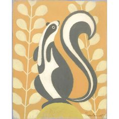 Nursery Nuances: Orange Nusery Designed by Wendy! Oopsy Daisy Canvas Wall Art Bandit Skunk from @LaylaGrayce #laylagrayce #nursery #design