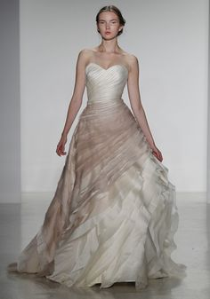 wedding dressses, ball gowns, kelli faetanini, faetanini 2014, colorful weddings, bridal inspir, organza ball