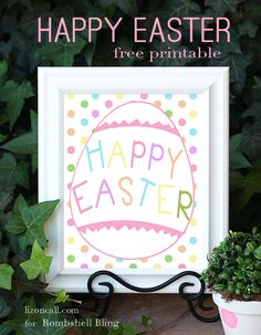Happy Easter -- Free Printable