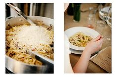 Sunday Supper :: Market Pasta, Tagliattele with Young Garlic, Asparagus and Mushrooms