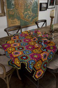 Free crochet pattern for picnic blanket