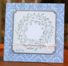 Pretty much confirming I need a wreath stamp :)   From Melissa Frances blog