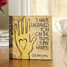 Engraved On The Palms Of His Hands