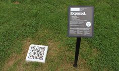 QR code in parks and gardens.