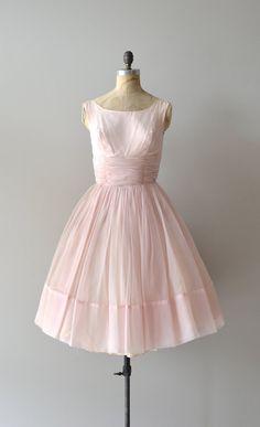 vintage 50s dress / chiffon 1950s dress / Candy Cloud dress