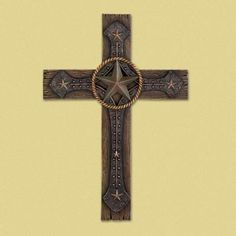 Rustic Cowboy Wall Cross from Koehlerhomedecor.com - Rugged cowboy styling gives this classic cross a dash of down-home distinction! A winning combination of simple shapes and traditional images that displays your faith with unique artistic flair. Buy wholesale at Koehler Home Décor.