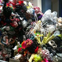 Recycled crocheted coral reef at Smithsonian natural history museum!