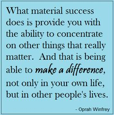 make a difference with your success.