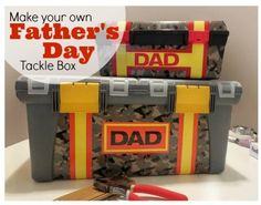 Make Your Own Father's Day Tackle Box | Tipsaholic.com #diy #kids #project #dad #father #toolbox