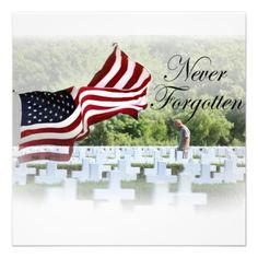 Never Forgotten - Memorial Day Personalized Invitations $1.95