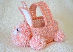 Crochet Easter Bunny Basket #crochet #Easter