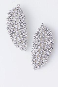 Crystal Leaf Earrings
