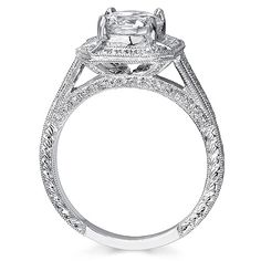 cathedral halo engagement ring - Google Search