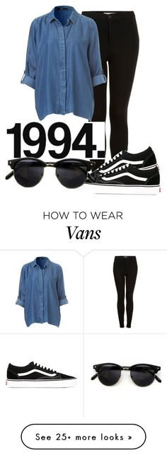 """1994"" by yelmeeyuf on Polyvore featuring Topshop and Vans"
