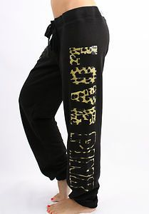 Victoria's Secret Love PINK Leopard Sweat Pants