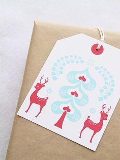 christmas gift tags {print it}