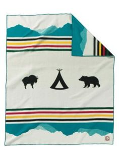 glacier park 100th anniversary blanket :: pendelton