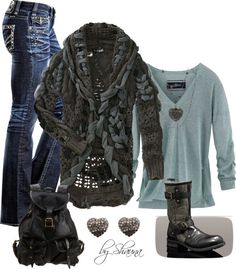 Fantastic Fall UGGs boots and gorgeous cardigan