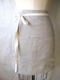 linen apron <3