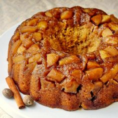 Sticky Toffee Apple Cake - a cross between a sticky toffee pudding and an apple upside down cake. The ideal Fall dessert.