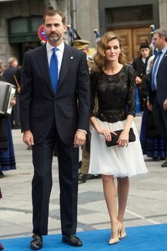 Queen Sofia ,Prince Felipe and Princess Letizia attend the Prince of Asturias awards ceremony in Ovied