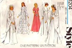This is the pattern I used for my Wedding in 1976 when there had been several Tudor series on TV. It is so special to find it again on the internet. I added lace to the sleeves and hem! Wish I had not thrown it away!