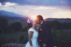 italian 50s wedding in blue