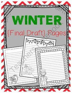 FREE Winter Final Draft Pages from Sweet and Neat Printables on TeachersNotebook.com -  (15 pages)  - This 15-page *freebie* has been completely updated!   These winter-themed final draft pages are a fun option for students ready to publish their writing!