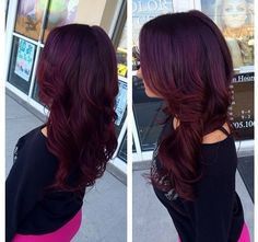Obsessed with this purple/red hair color