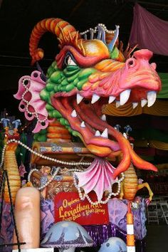 Mardi Gras World, a way to see how it's all put together, up close! Next best thing to the Mardi Gras, without all the traffic and chaos and insanity!