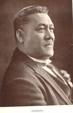 His Royal Highness M. Mataafa in 1929.